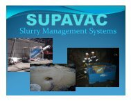 Slurry Management Systems