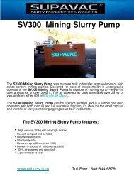 SV300 Mining Slurry Pump