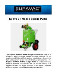 SV110-V | Mobile Sludge Pump