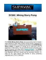 SV300 | Mining Slurry Pump