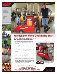 Nobody Knows Winery Cleaning Like Hotsy !