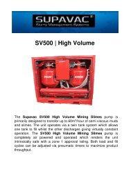 SV500 | High Volume