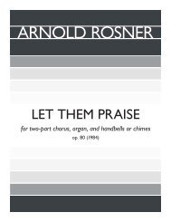 Rosner - Let Them Praise, op. 80