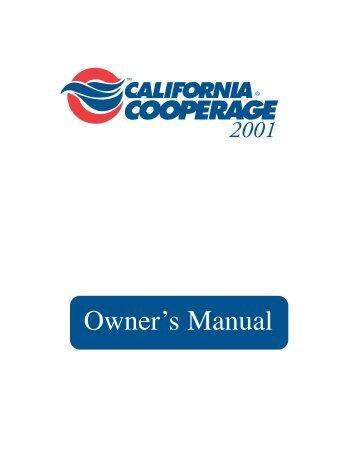 Owner's Manual - California Cooperage Hot Tubs