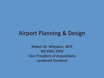 Airport Planning & Design