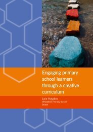 Engaging primary school learners through a creative curriculum