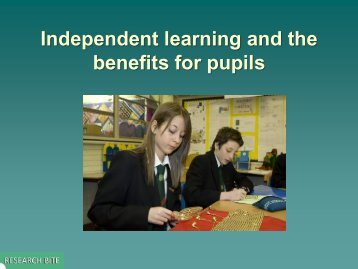 benefits for pupils