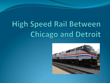 Why High Speed Rail?