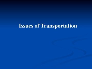 Issues of Transportation