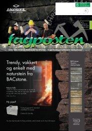 Trendy vakkert og enkelt med naturstein fra BACstone