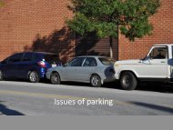 Issues of parking