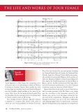 THE LIFE AND WORKS OF FOUR FEMALE CANADIAN CHORAL COMPOSERS - Page 7