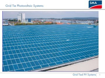 Grid Tie Photovoltaic Systems