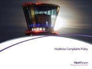 Heathrow Complaints Policy