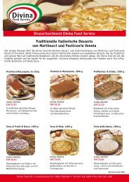 Dessertsortiment Divina Food Service Traditionelle italienische ...