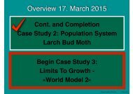 Overview 17 March 2015