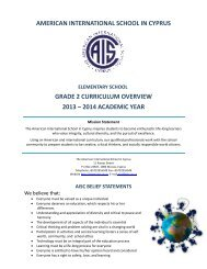 Curriculum Overview Grade 2 - The American International School ...