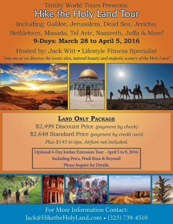 Hike the Holy Land Tour