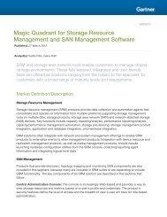 Magic Quadrant for Storage Resource Management and SAN Management Software