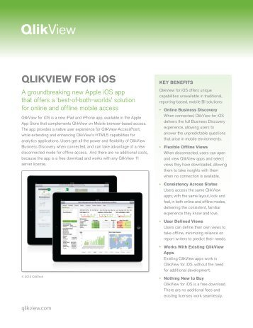 QLIKVIEW FOR iOS