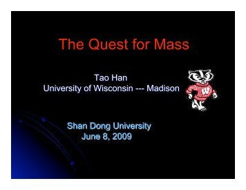The Quest for Mass