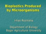 Bioplastics Produced by Microorganisms