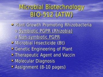 Microbial Biotechnology BIO-512 (ATW)
