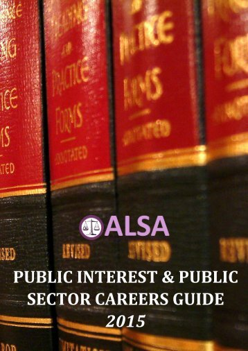 2015+ALSA+Public+Interest+and+Public+Sector+Careers+Guide