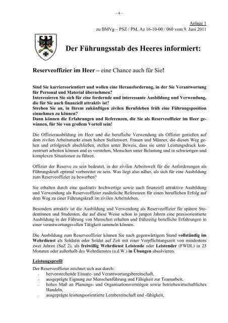 Reserveoffizier Im Heer Bundeswehr Karriere