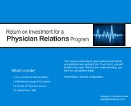Physician Relations