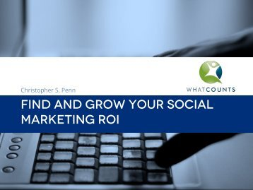 FIND AND GROW YOUR SOCIAL MARKETING ROI