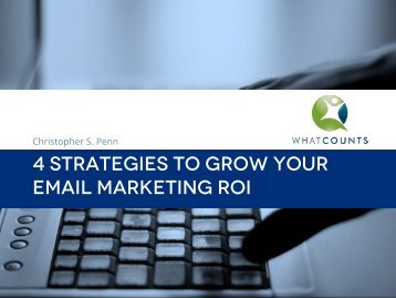 4 STRATEGIES TO GROW YOUR EMAIL MARKETING ROI