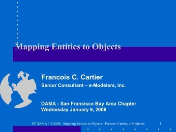 Mapping Entities to Objects