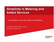 Simplicity in Metering and Added Services