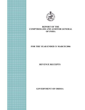Audit Report(Revenue Receipt) - Accountant General, Odisha