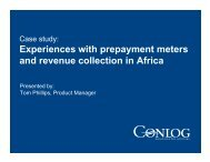 Experiences with prepayment meters and revenue collection in Africa