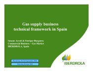 Gas supply business technical framework in Spain