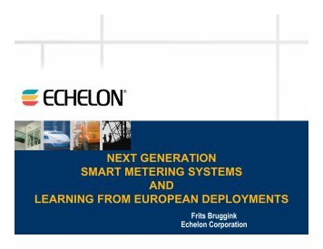 AND LEARNING FROM EUROPEAN DEPLOYMENTS
