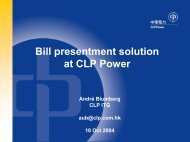 Bill presentment solution at CLP Power