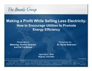 Making a Profit While Selling Less Electricity