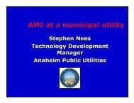 AMI at a municipal utility