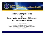 Federal Energy Policies on Smart Metering Energy Efficiency and Demand Response