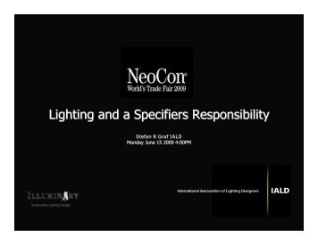 Lighting and a Specifiers Responsibility