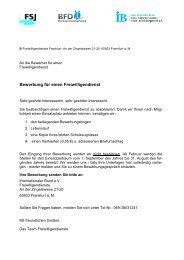 freiwilligendienste (fsj + bfd) - Internationaler Bund