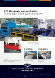 GEORG levelling machines for the steel service and