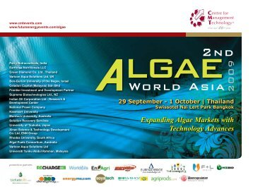 Expanding Algae Markets with Technology Advances