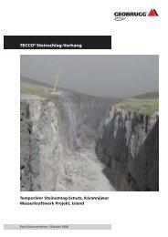 TECCO® Steinschlag-Vorhang - Geobrugg AG
