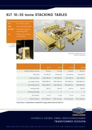 KLT 10–30 tonne STACKING TABLES - Heinrich Georg GmbH ...