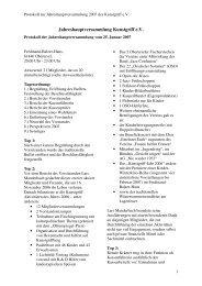 Jahreshauptversammlung Kunstgriff e.V. - Kunstgriff eV Oberursel