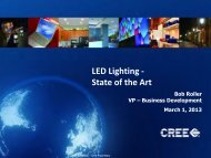 LED Lighting - State of the Art